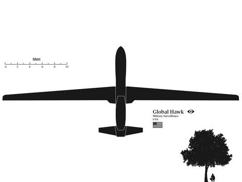 世界のできごと あっちこっちにゅーす : 各国の無人航空機の大きさを表した絵がすごい