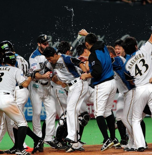 日本シリーズ_日ハムサヨナラ満塁ホームラン