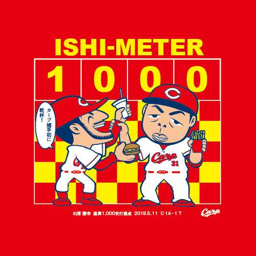 石原慶幸1000本安打記念Tシャツ02