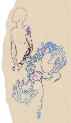 Princess Ukok, tattoos on her shoulder