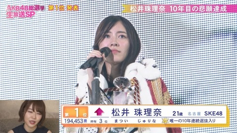 【AKB48】細井支配人「松井珠理奈の復帰が間に合わず発売したとしても、復帰したら録り直して発売する」