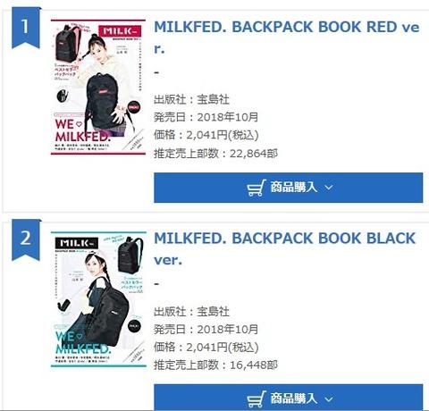 【朗報】NMB48山本彩表紙のファッションムック本がなかなか売れている