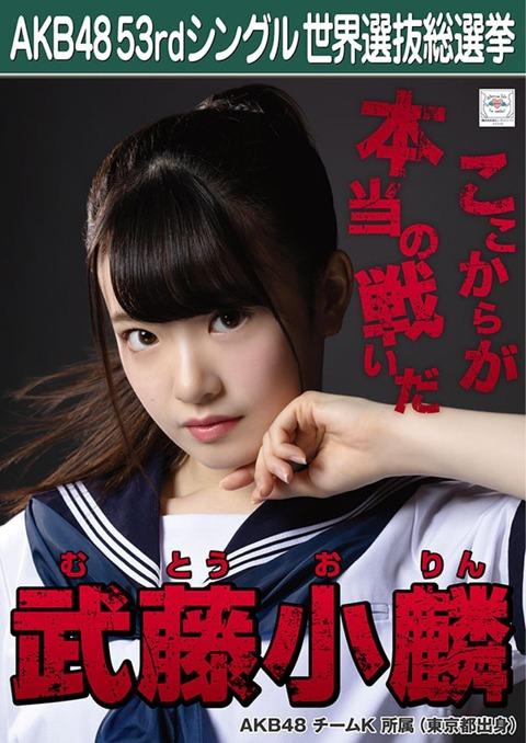 【AKB48総選挙】武藤小麟「選挙ポスターは姉のファンの方の力を借りない、ここからが本当の戦いだという意味を込めました」