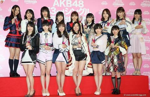【AKB48総選挙】珠理奈の約2億円、須田の約1億5千万、宮脇の約1億4千万、荻野の約8千万