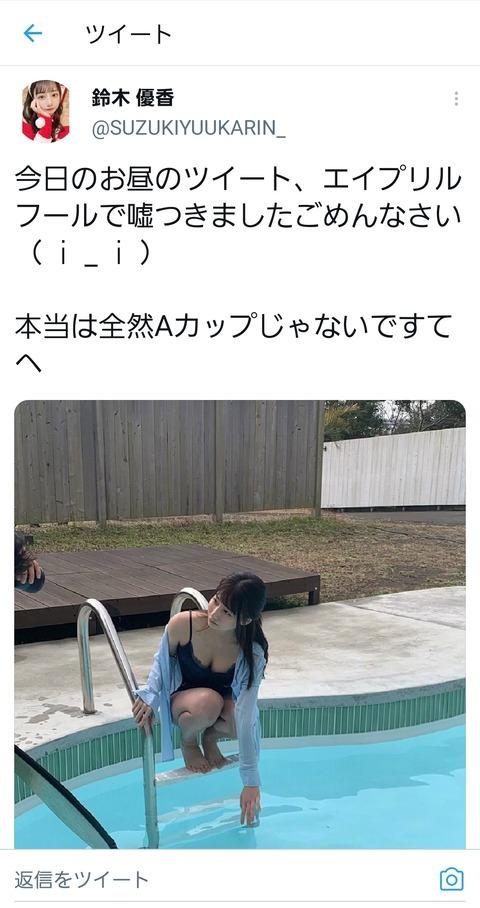 【朗報】鈴木優香さんAカップになったというのはやはり嘘だと判明www