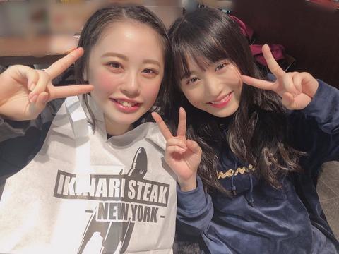 【AKB48】チーム8の子供たちがいきなりステーキに行く【濵咲友菜・坂口渚沙】