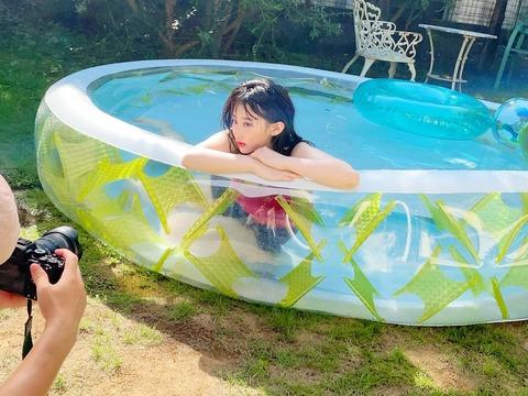【画像】HKT48田中美久ちゃん(19歳)のGカップバストをご覧くださいwww【みくりん】
