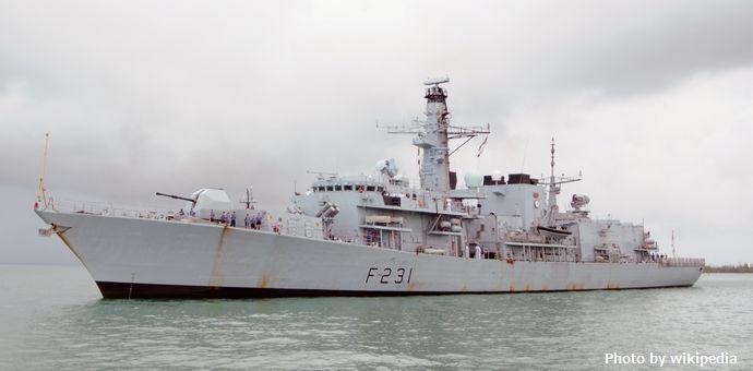 HMS_Argyll_(F231)_at_Key_West_2013