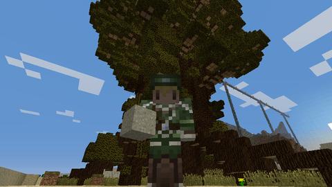 Minecraft__クラフト生活記 : 憧れの巨大な木⑤_俺の血を吸って ...