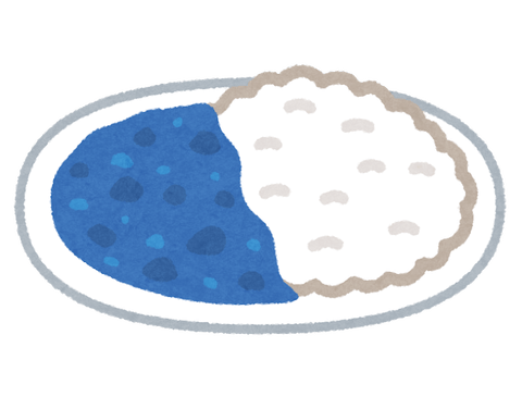 food_curry_rice_blue