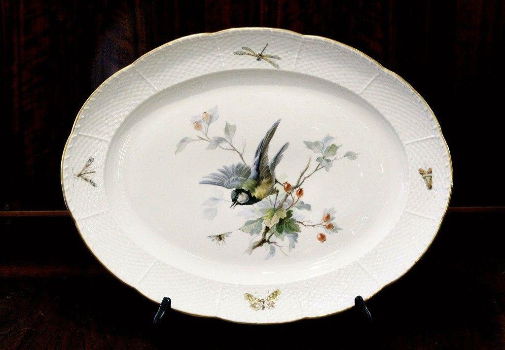 アンティーク アーカイヴのブログ:マイセン 自然主義様式の鳥の絵