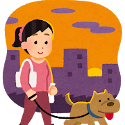 pet_dog_sanpo_yugata_woman