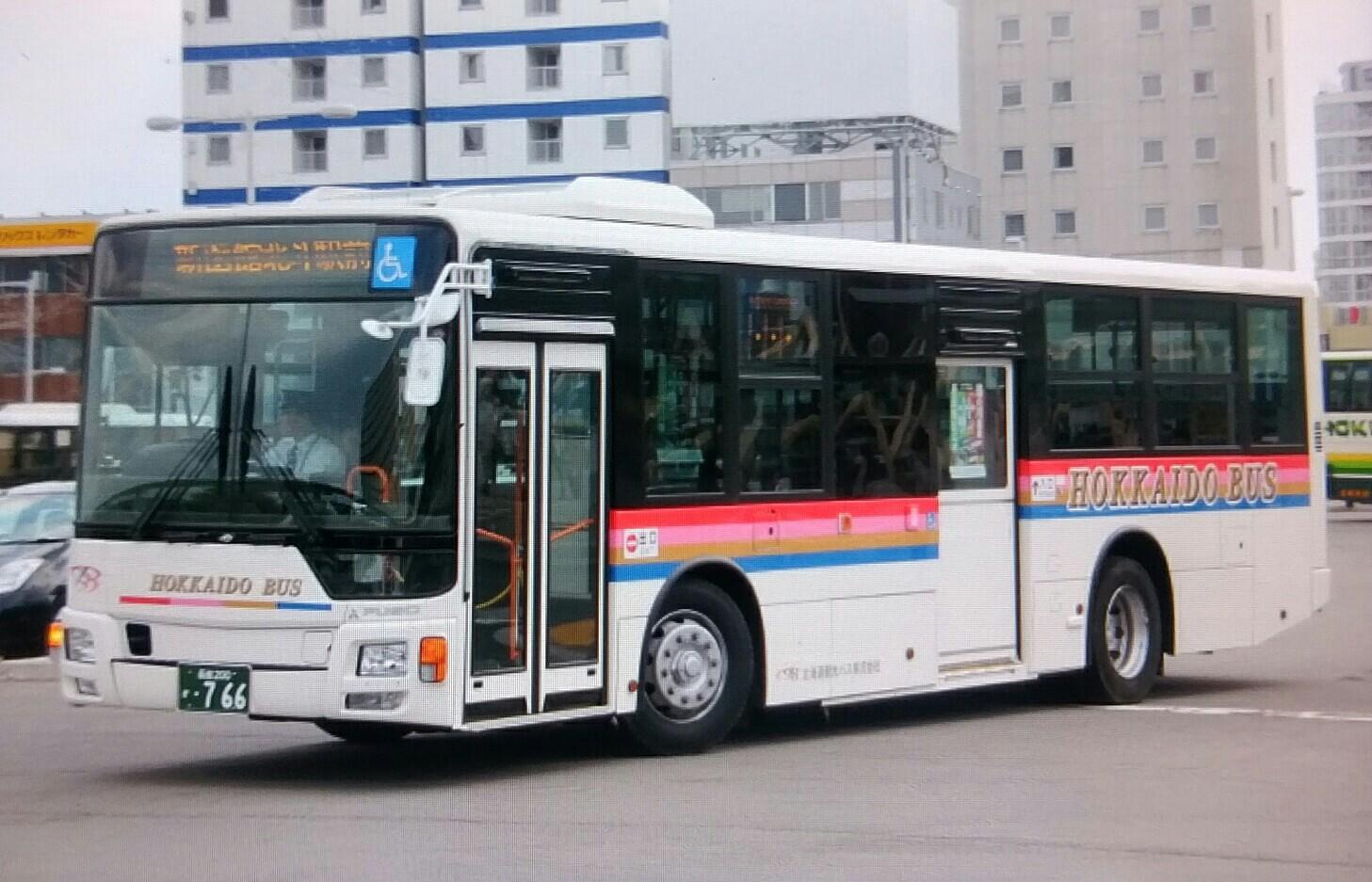 北海道観光バスQKG-MP38FK : バスフォトコレクション