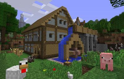 マインクラフトで作成した家