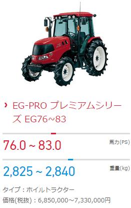 トラクターの価格