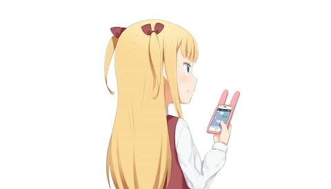 携帯を操作する