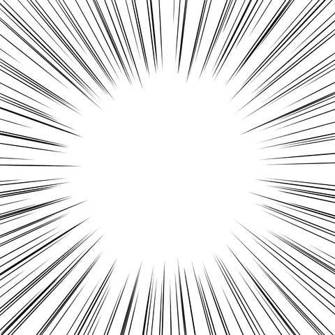 背景屋 漫畫・イラスト用無料素材配布サイト〔商用利用可〕 : 〔背景素材〕集中線 濃いめ〔10枚〕