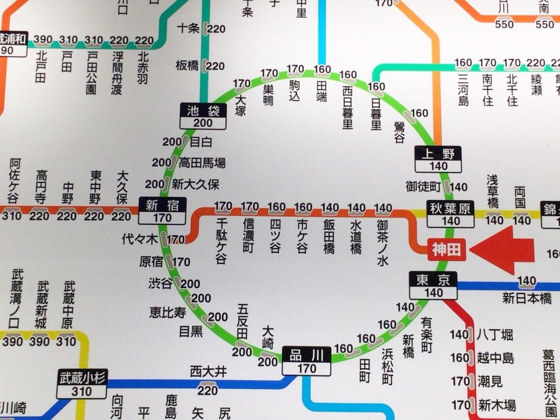 高円寺と阿佐ヶ谷はJR料金の変わり目! : himag