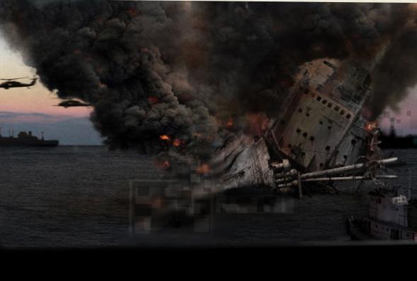 クローバーフィールド-タンカー座礁