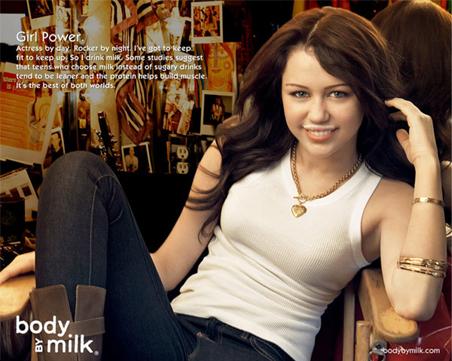 ハンナ・モンタナ=マイリー・サイラス-牛乳キャンペーン