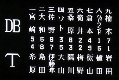 阪神、甲子園最終戦、4番は大山先発は岩田DeNA戦スタメン発表