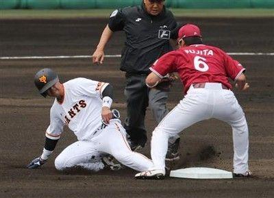 巨人・吉川尚、1番やり!2盗塁だ2安打だ原監督絶賛「ずっと存在感ある」