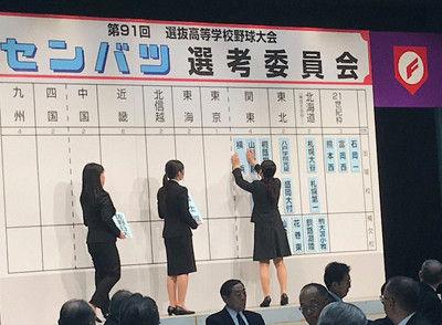 <高校野球>関東・東京は春日部共栄、習志野、国士舘、桐蔭学園、山梨学院、横浜の6校に春