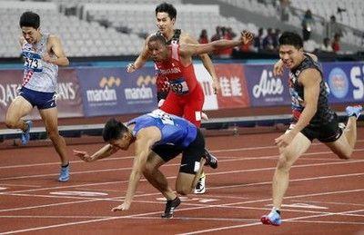 小池祐貴が金メダルアジア大会男子200メートル