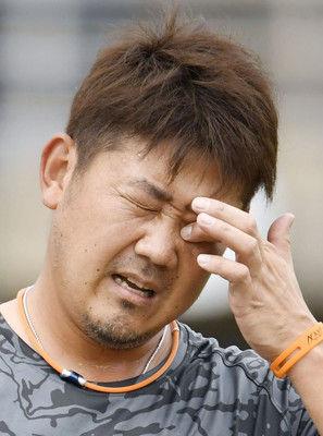 松坂14日に球団代表と面談右肩炎症、今後について