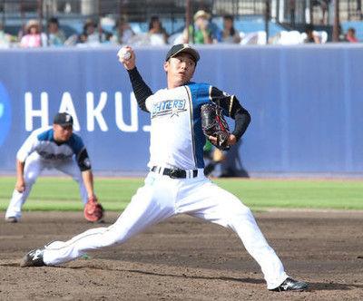 日本ハム斎藤佑樹2回無安打無失点「良かった」