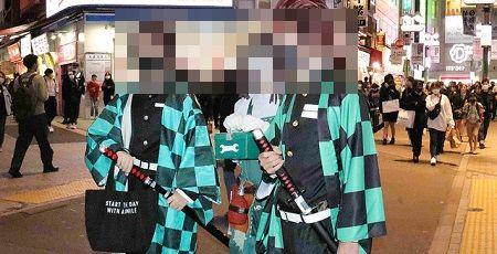 渋谷 ハロウィン コスプレ 自粛 仮装 炭治郎 新型コロナウイルスに関連した画像-01