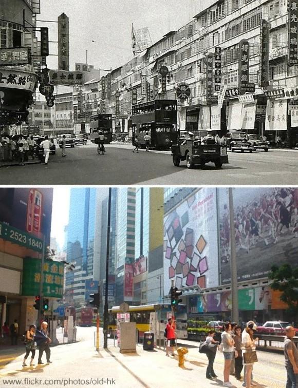 香港の今と昔を同じ場所で比較した寫真 : カラパイア