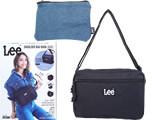 Lee® SHOULDER BAG BOOK BLACK 《付録》 Wファスナーショルダーバッグ