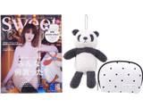 sweet (スウィート) 2019年 11月号増刊 《付録》 gelato pique(ジェラートピケ)ビッグパンダとハート柄ポーチ