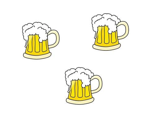 ビールを3杯注文する男