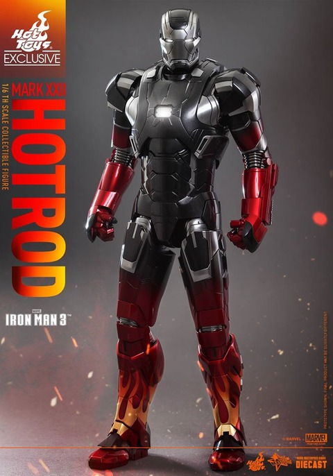 Hot-Toys-Iron-Man-3-Mark-XXII-Hot-Rod-Armor-006