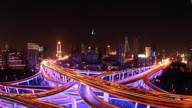 141207上海の高速道路@中国 上海