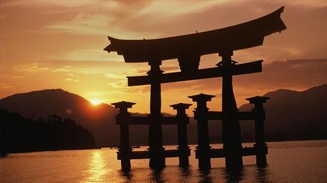140101厳島神社の日の出@広島 宮島