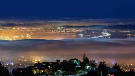 141024霧のサンフランシスコ湾@アメリカ カリフォルニア州