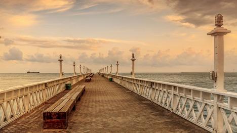 140919イラセマ・ビーチの桟橋@ブラジル セアラー州