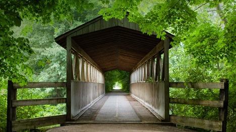 130403ブラック川の屋根付き橋@アメリカ ミシガン州