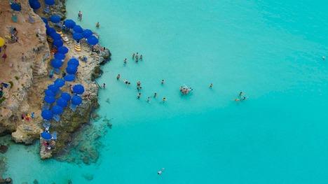 140331小さな島の青い海@マルタ共和国