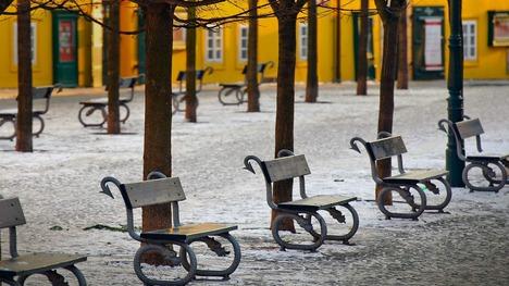 140818カンパ島のベンチ@チェコ プラハ