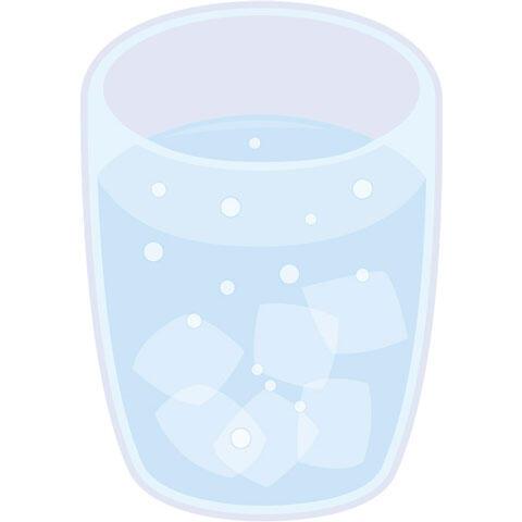 コップの中の炭酸水