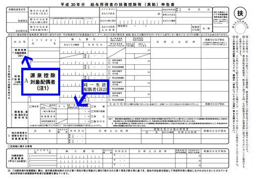 源泉控除対象配偶者とは?(H30~R01) : 年末調整の書き方