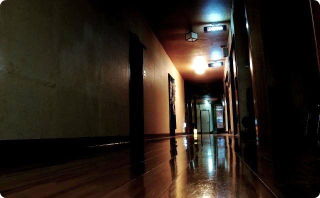 旅館の廊下