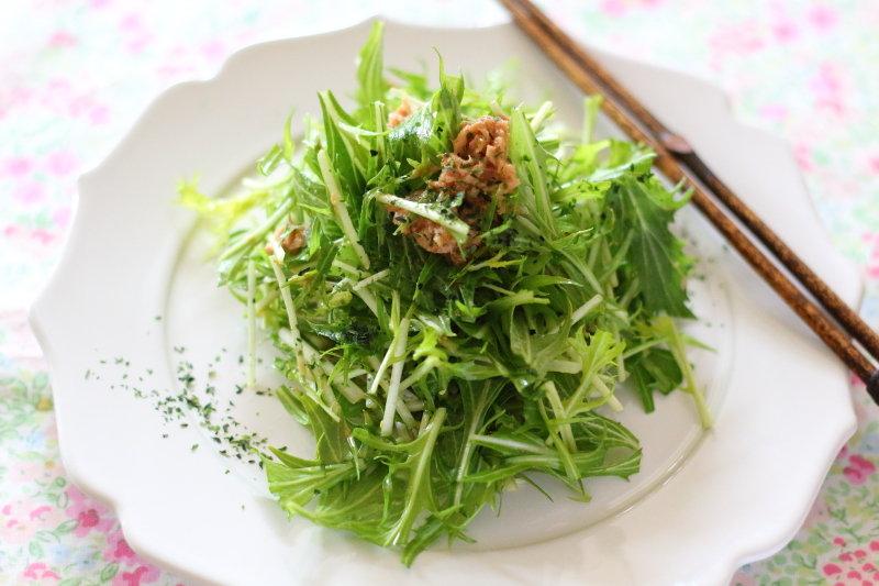 ツナ缶の油の栄養価 &それを活用した【水菜シャキシャキ ...