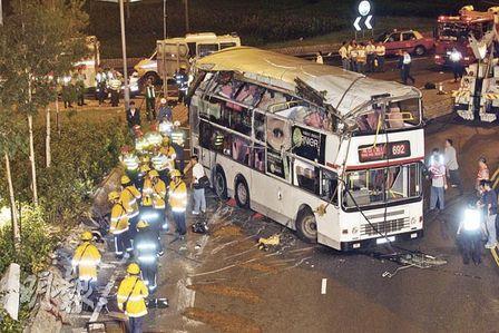香港郊野遊行・續集 : 將軍澳でバス事故。