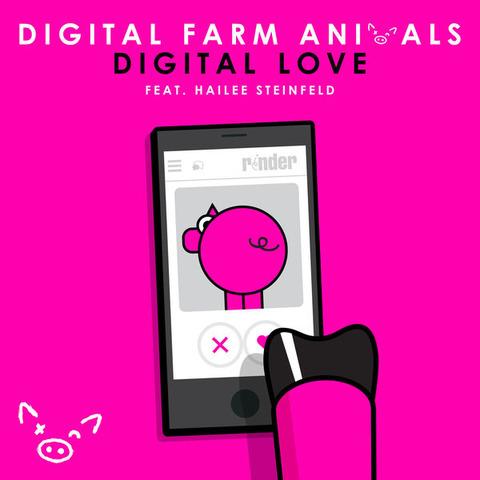 Digital Love Chords Digital Farm Animals, Hailee Steinfeld Lyrics for Guitar Ukulele Piano Keyboard with Strumming Pattern on Capo.-600x600