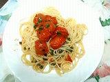 思うツボ日記 プチトマトのスパゲッティ